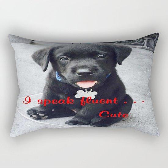 I speak fluent . . . Cute Rectangular Pillow