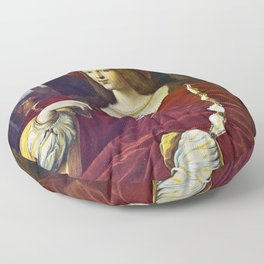 Joanna of Aragon by Raphael Floor Pillow