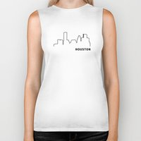 houston Biker Tanks featuring Houston by Fabian Bross