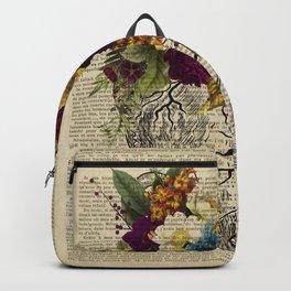 human flower heart  Backpack