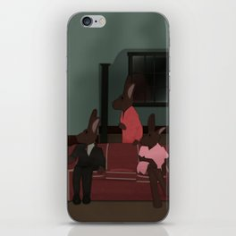 Bunnies - Who's at the Door? iPhone Skin