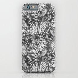 Black & White Tie Dye Swirls iPhone Case
