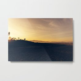 Beach silhouette Metal Print