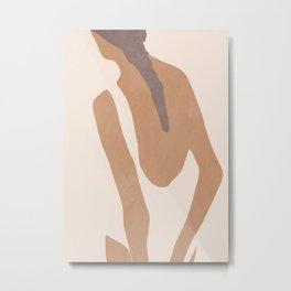 abstract minimal girl Metal Print