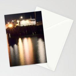 Night Light Harford Pier Port San Luis Avila Beach Stationery Cards