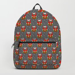 Christmas Snow Owl Pattern Backpack