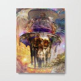 Melting Mad Hatter Metal Print