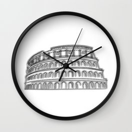Rome Colosseum  Wall Clock
