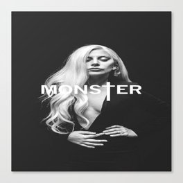 Lady Gaga's Portrait Monster Canvas Print