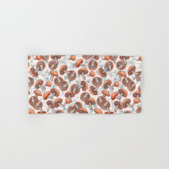 tasty shiitake pattern Hand & Bath Towel