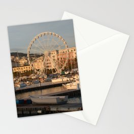 Italy : Ferris wheel for the Luci d'Artista 2018, Christmas lights show in Salerno, December 2018 Stationery Cards