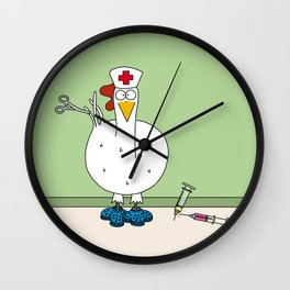 Eglantine la poule (the hen) dressed up as a nurse. Wall Clock