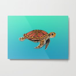 Sea Turtle Totem Metal Print