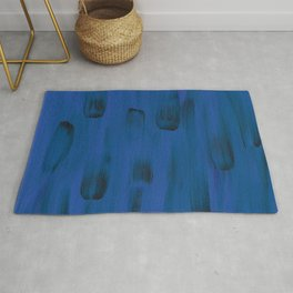 Blueberry Abstract Rug