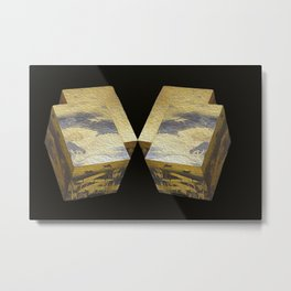 Abstract 3 D photography, black gold Metal Print