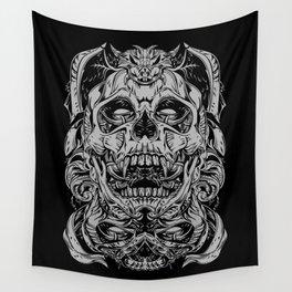 2 FACES SKULL Wall Tapestry