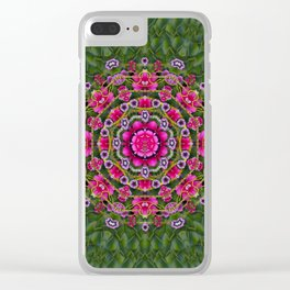 fantasy floral wreath in the green summer  leaves Clear iPhone Case