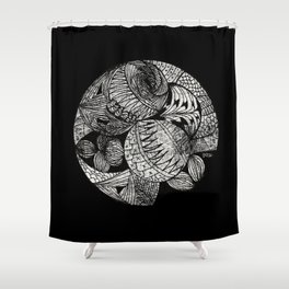 Drawing 2 Shower Curtain