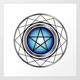 Glowing Pentagram Art Print