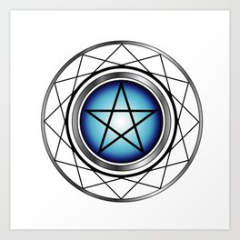 Glowing Pentagram Art Print
