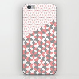 Hexagon(pink) #2 iPhone Skin