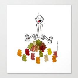 DIDI and his gummy bears Canvas Print