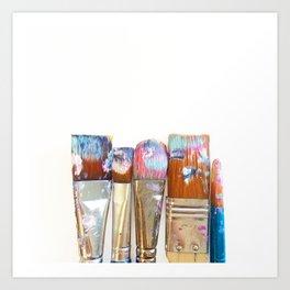 Five Paintbrushes Minimalist Photography Art Print