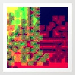 Pixel Galaxy 002 Art Print