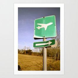 Let's Runaway Art Print