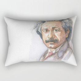 Albert Einstein Watercolor Portrait Rectangular Pillow