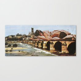 Bridge sleepers Canvas Print