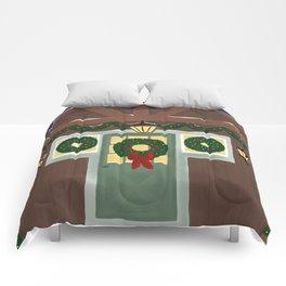 Rustic Christmas Night Comforters