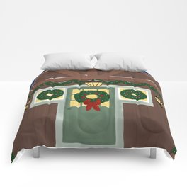 Rustic Christmas Night Comforters