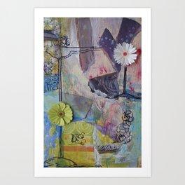 Flower Montage Art Print
