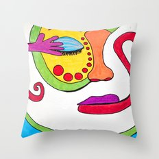 False face must hide what the false heart doth know. Throw Pillow