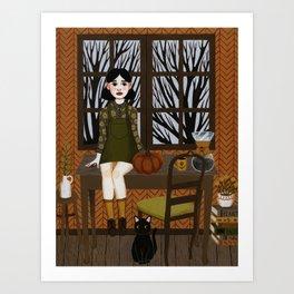quiet kitten Art Print