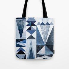 Blue Shapes Tote Bag
