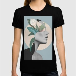 Floral Portrait /collage T-shirt