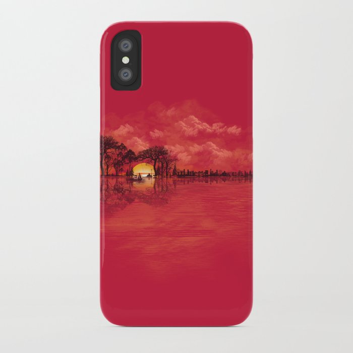 Musical Sunset iPhone Case