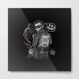 R U Mine? (Black BG) Metal Print