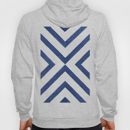 Geometrical modern navy blue watercolor abstract pattern Hoody