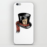 mad hatter iPhone & iPod Skins featuring Mad Hatter by Countmoopula