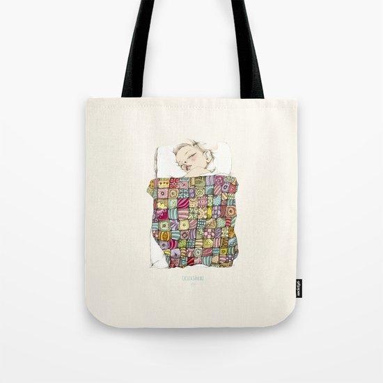sleeping child Tote Bag