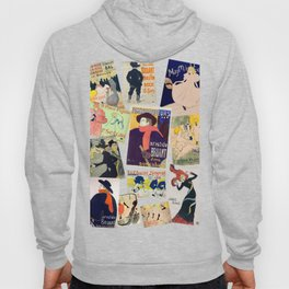 Toulouse Lautrec Posters Pattern Hoody