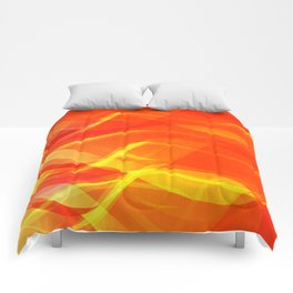Theme of fire for the banner. Bright red and orange glare on a gentle background for a fabric or pos Comforters