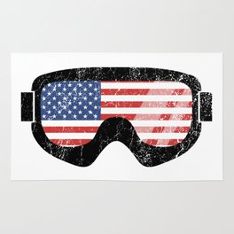 American Goggles - Distressed Black   Goggle Designs   DopeyArt Rug