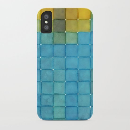 Polaroid Pixels I (Flower) iPhone Case