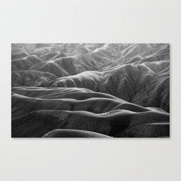 Endless Valleys (Black and White) Canvas Print