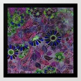 Retro Boho Daisy Floral Art Print