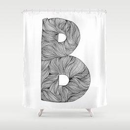 Hand Drawn Font B Shower Curtain